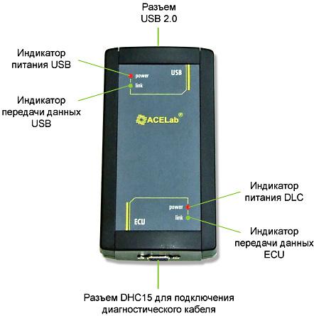 Схема USB K-L-Line адаптера.